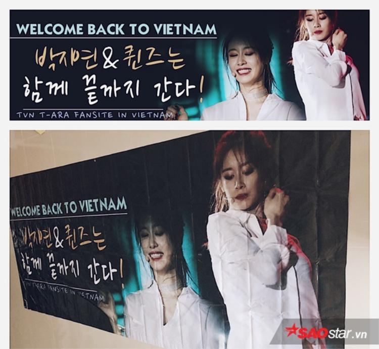 Tấm băng rôn chào đón Jiyeon tại sân bay sẽ chưa thể xuất hiện vào ngày 31/7.