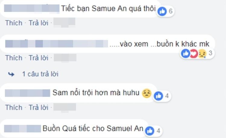 Fan team Noo tiếc nuối khi Samuel An dừng chân.