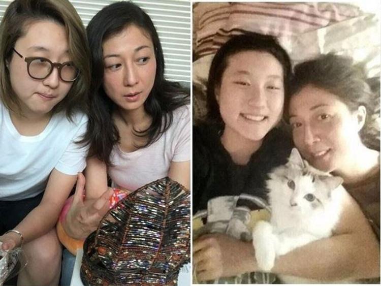 Cựu hoa hậu và con gái Ngô Trác Lâm.