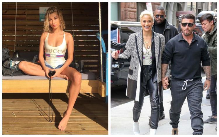 Hôn thê của Justin Bieber và ngôi sao phim hàng động Paula Patton không thoát khỏi bẫy của Gucci giăng ra.