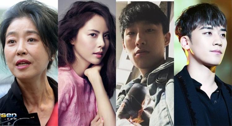 Ngoài ra, loạt ngôi sao khác được gọi tên theo thứ tự trong bảng xếp hạng bao gồmnữ diễn viên gạo cội Kim Boo Sun, Park Ji Yoon, rapperBlack Nut,Seung RicủaBig Bang.