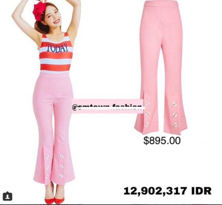 Chiếc quần hồng 'bánh bèo' nhưng vô cùng cá tính của Joy có giá gần 30 triệu VNĐ.