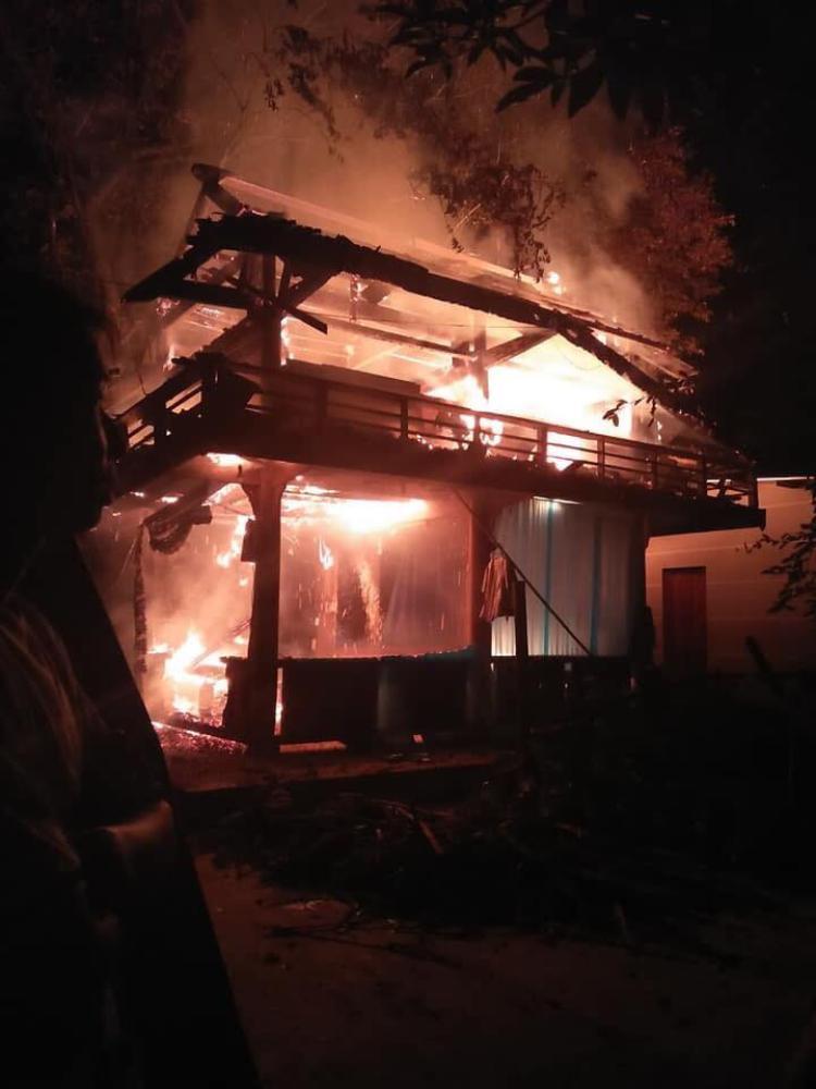 Vụ cháy xảy ra trong đêm