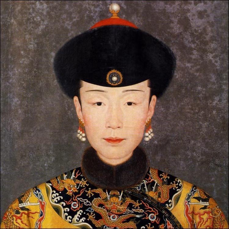 Một chân dung khác của Tuệ Hiền Hoàng Quý phi.
