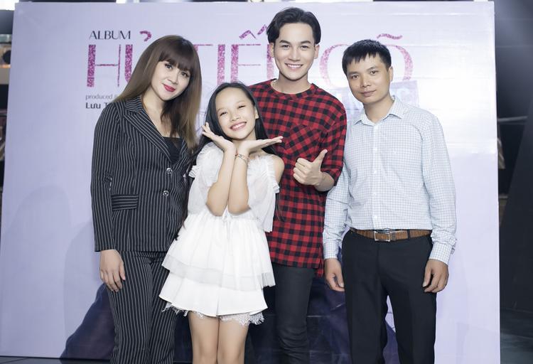 Buổi họp báo có sự xuất hiện của nhạc sĩ Lưu Thiên Hương và Quán quân The Voice 2017 Ali Hoàng Dương.