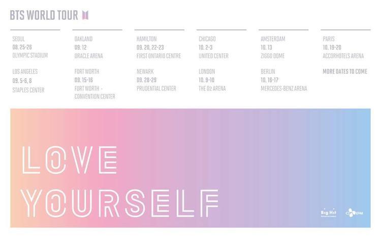 Concert đầu tiên diễn ra tại Seoul, Hàn Quốc vào ngày 25-26/8. Dù chưa khởi động nhưng tất cả đêm diễn nằm trong khuôn khổ World Tour đều đã cháy vé.