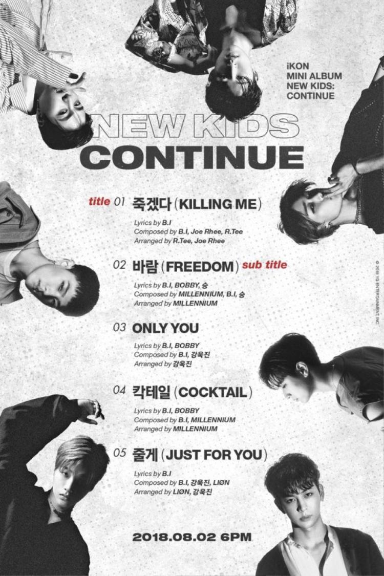 Chưa hết, tất cả bài hát nằm trong album lần này đều có sự tham gia sản xuất của thủ lĩnh iKON - B.I.