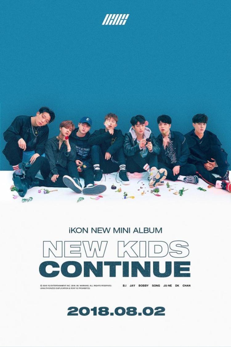 """Mở màn """"trận chiến"""" tháng 8 là các chàng trai nhà YG - iKON với mini album New Kids: Continue."""