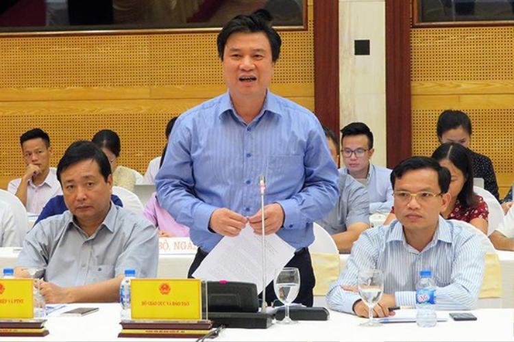 Thứ trưởng Bộ GD-ĐT Nguyễn Hữu Độ. Ảnh: Vietnamnet.