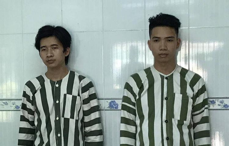 2 nghi can Nguyễn Trường Chinh và Nguyễn Trường Phi. Ảnh: báo Dân Trí.