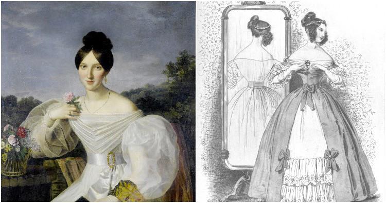 Phụ nữ thời đó thường sử dụng bút chì màu xanh hoặc tím để vẽ tĩnh mạch ở các vùng da hở ra ngoài.