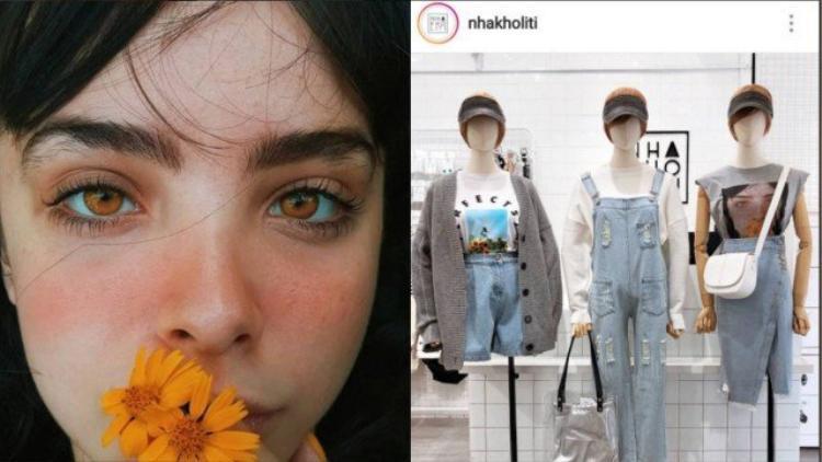 Bức ảnh gốc (trái) và ảnh được in trên áo (ma-nơ-canh thứ 3 bên phải). Ảnh: Meanda Driely/Twitter
