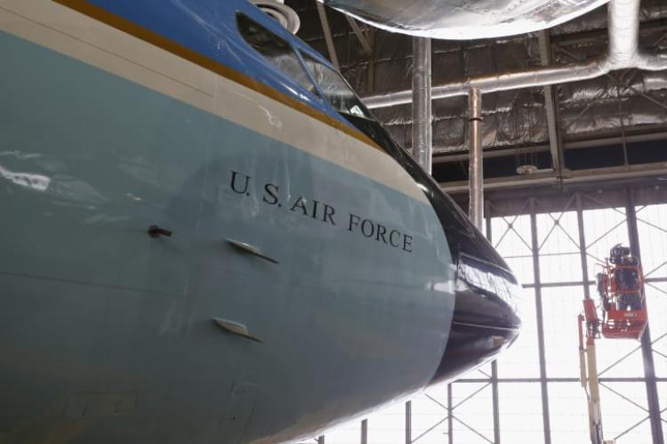 Chuyên cơ SAM 26000 được trưng bày tại Bảo tàng Không quân quốc gia Mỹ, thuộc Dayton, Ohio. Ảnh: Getty Images