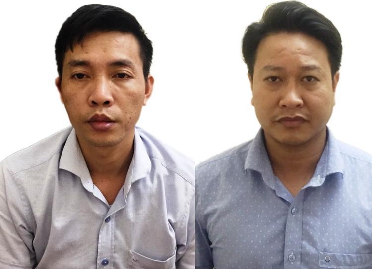 Bị can Đỗ Mạnh Tuấn (bên trái) và bịcanNguyễn Khắc Tuấn (bên phải). Ảnh: Cổng thông tin Bộ Công An.