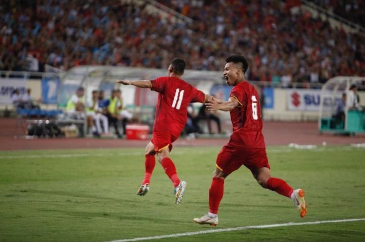 Tiền đạo Anh Đức ghi bàn gỡ hòa cho U23 Việt Nam.