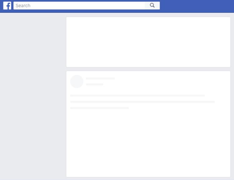 Facebook không thể tải được nội dung mới trên News Feed.