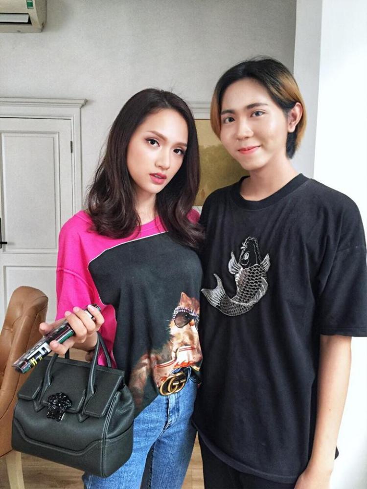 Đại từng may mắn được gặp HH Hương Giang trong một show truyền hình. Đây chính là người truyền cảm hứng cho Đại.