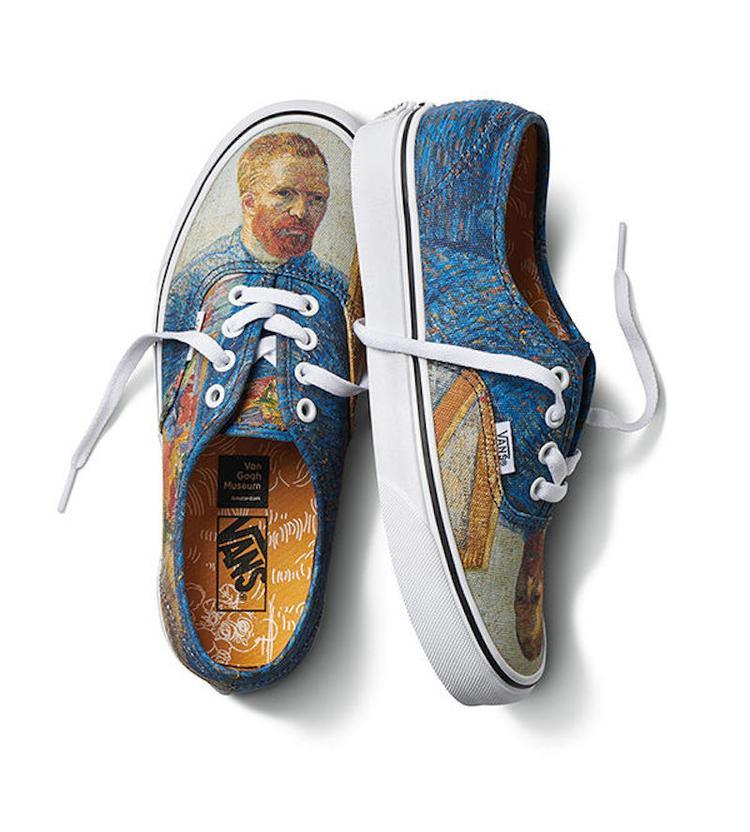 Thiết kế giày Authentic của Vans mới mẻ với họa tiết là bức chân dung tự họa của Van Gogh.