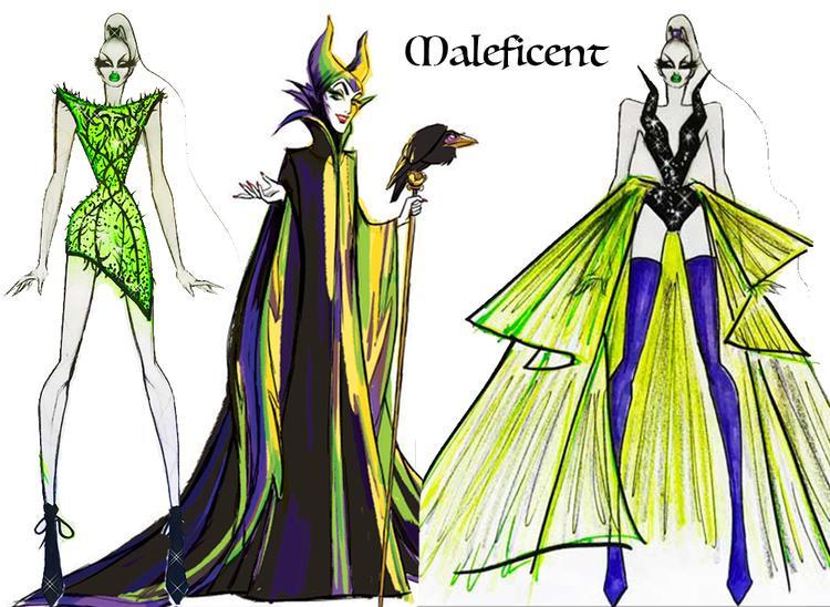 Nhân vật Maleficent được khắc họa rõ nét bằng thiết kế cá tính, thời trang.