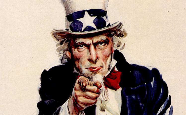 Bức áp phích Uncle Sam nổi tiếng nay có mặt trong cuộc chiến Mì - Phở.