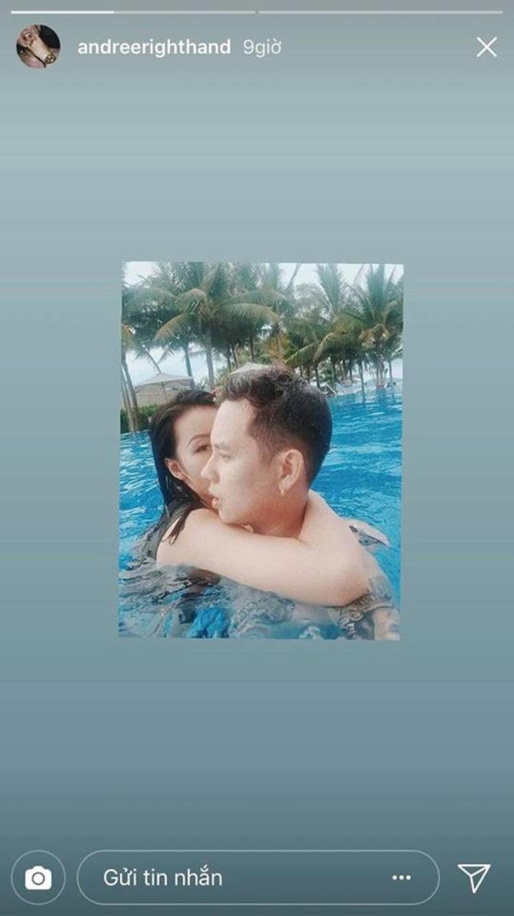 Hình ảnh tình tứ của cả hai trên instagram cá nhân Andree