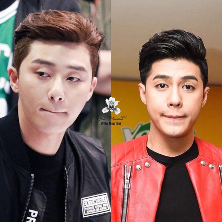 Loạt hình ảnh thể hiện biểu cảm giống nhau như đúc của Noo Phước Thịnh và phó tổng Lee (Park Seo Joon) được fan thích thú truyền tay nhau.