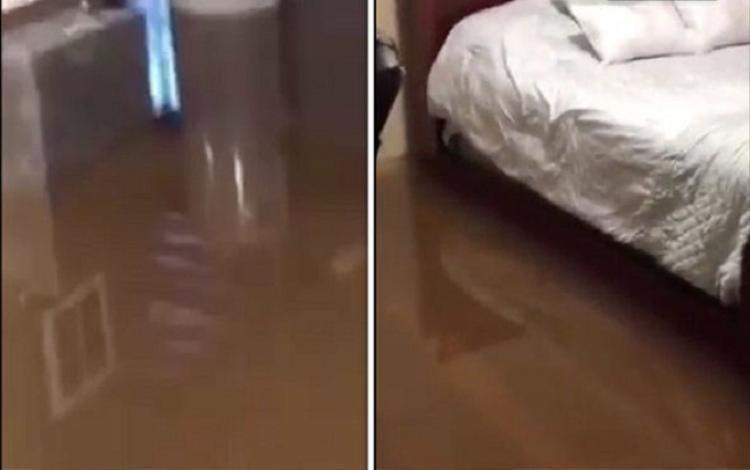 Nước dâng cao tới gần 50 cm và thậm chí ngập tới tận chân giường của một ngôi nhà. Nếu không kịp sơ tán, người dân Lynchburg sẽ gặp nhiều nguy hiểm.
