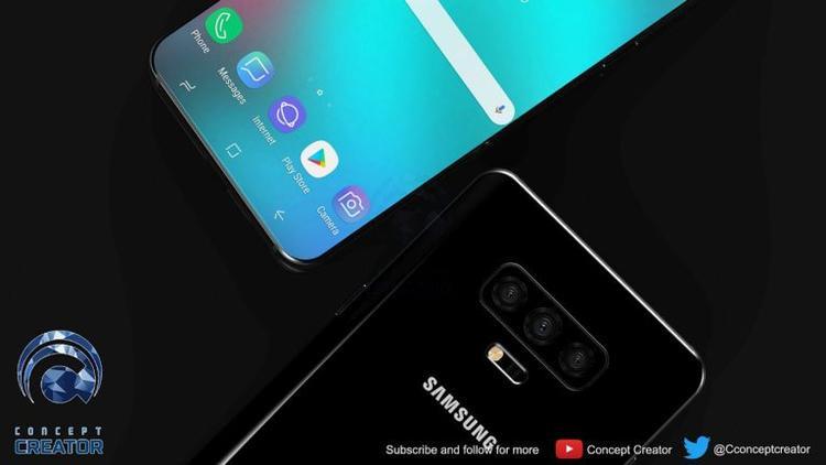 Samsung Galaxy S10 trong concept không còn cảm biến vân tay ở mặt lưng.