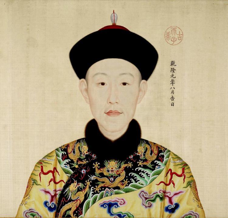 Chân dung Hoàng đế Càn Long thời trẻ, vẽ bởi họa sĩ người Ý Lang Thế Ninh.