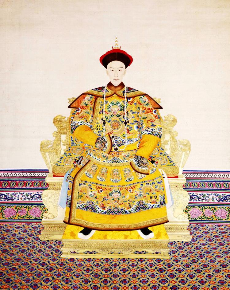 Hoàng đế Quang Tự trong triều phục mùa đông.