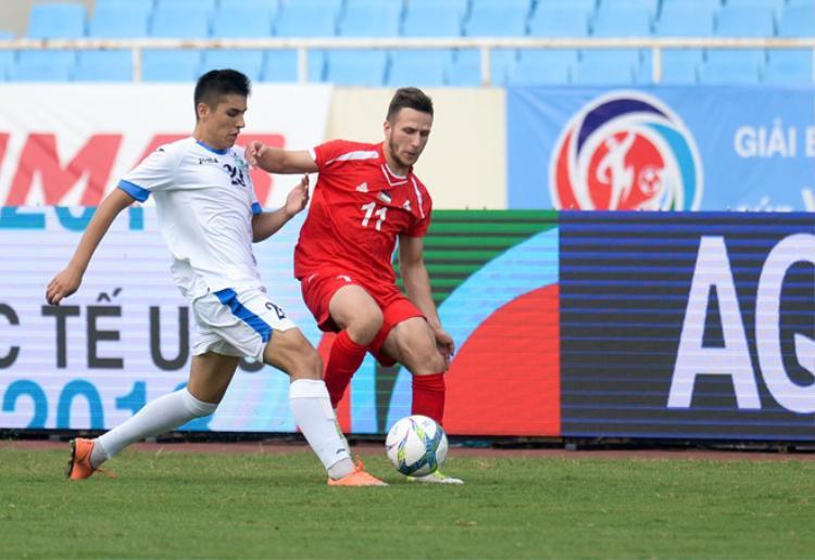 U23 Uzbekistan thi đấu kém thuyết phục tại giải U23 quốc tế. Ảnh: Zing.