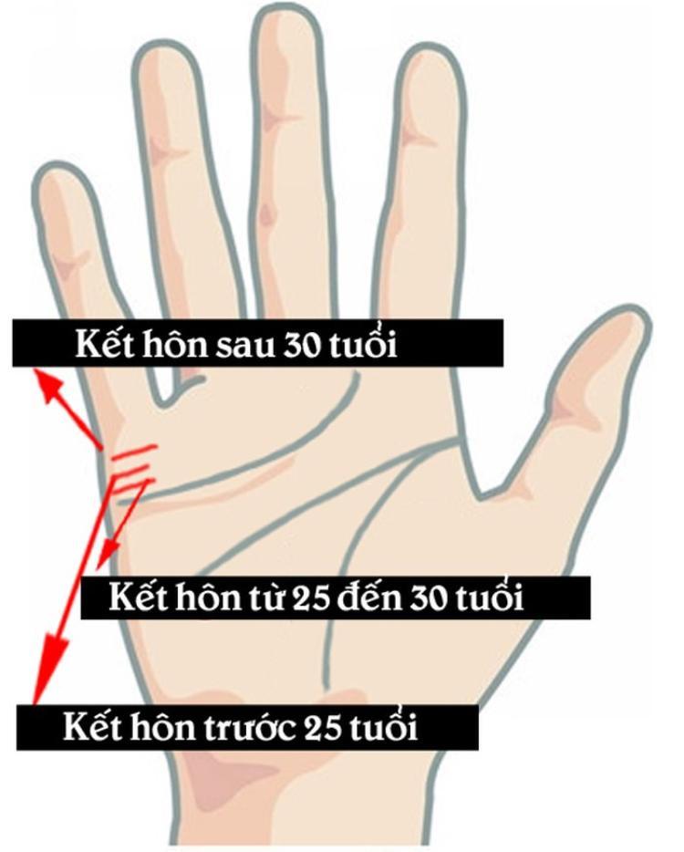 Nhìn đường chỉ tay tình duyên đoán ngay độ tuổi kết hôn của một người