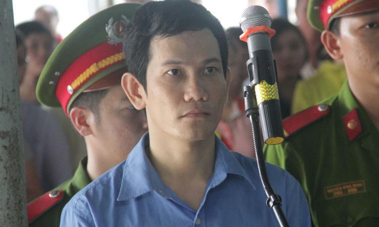 Nguyễn Văn Thái tại phiên sơ thẩm. Ảnh: Vietnamnet.