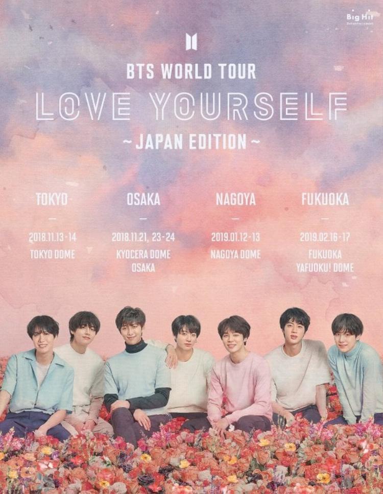 Danh sách những địa điểm dừng chân của BTS ở Nhật Bản.