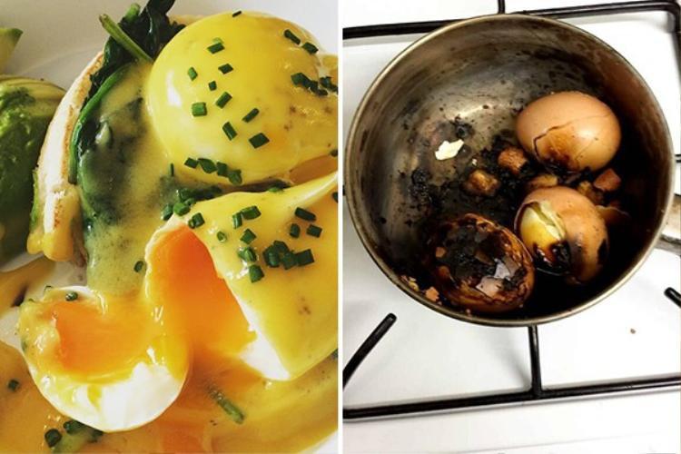 Nấu ăn chán nhưng có tâm thì không sai nhưng nấu ngon mà mải buôn để cho trứng cháy đen như đít nồi thì sai, hoàn toàn sai.