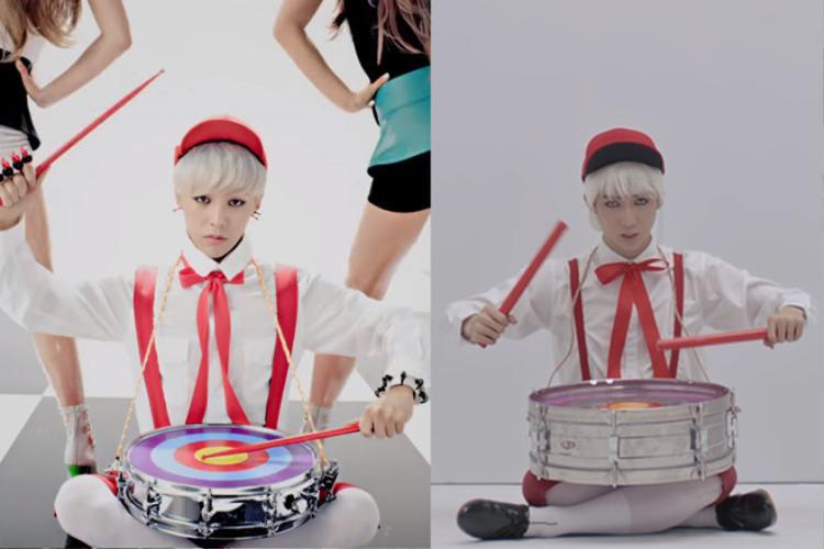 Đặc biệt, thành viên JBin trong nhóm cũng gây sốc không kém khi có hình tượng Pinocchio đồ chơi lấy cảm hứng từ hình mẫu của G-Dragon.