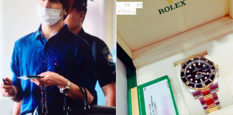 Các thành viên BTS cũng từng nhận được đồng hồ được gửi từ các fan.