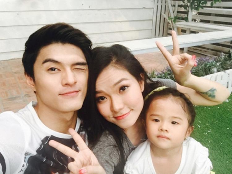Gia đình hạnh phúc của Lý Phương Châu thuở còn mặn nồng.