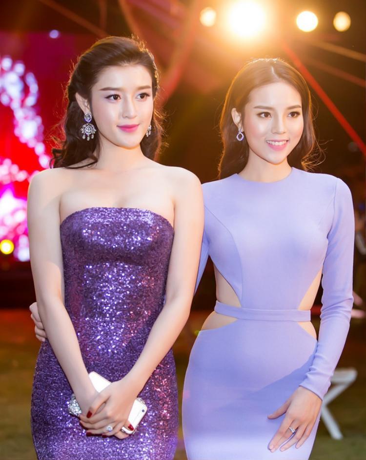 Kỳ Duyên - Huyền My: Hai người đẹp giành vị trí cao nhất tại Hoa hậu Việt Nam 2014.