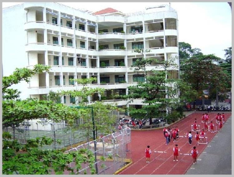 Khuôn viên của trường.