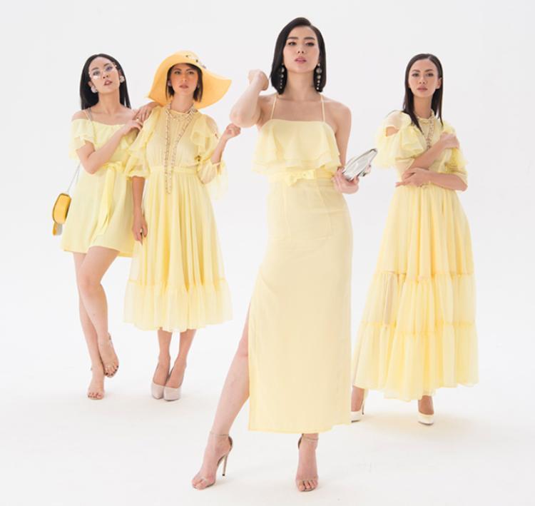 Gam màu vàng sang trọng tôn da được khai thác rất khéo léo