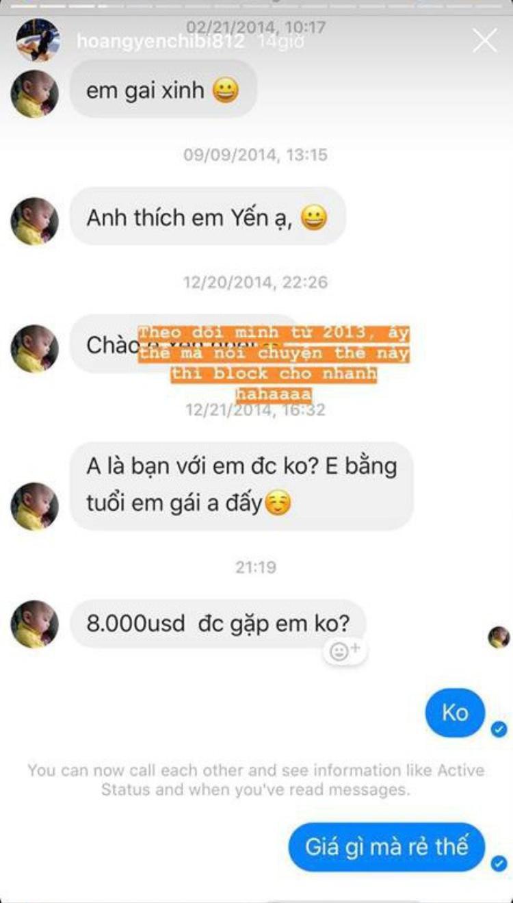 Hoàng Yến Chibi xứng đáng là 'nữ hoàng quyền lực' khi thẳng tay block 1 fan cuồng 'trả giá 10000 USD
