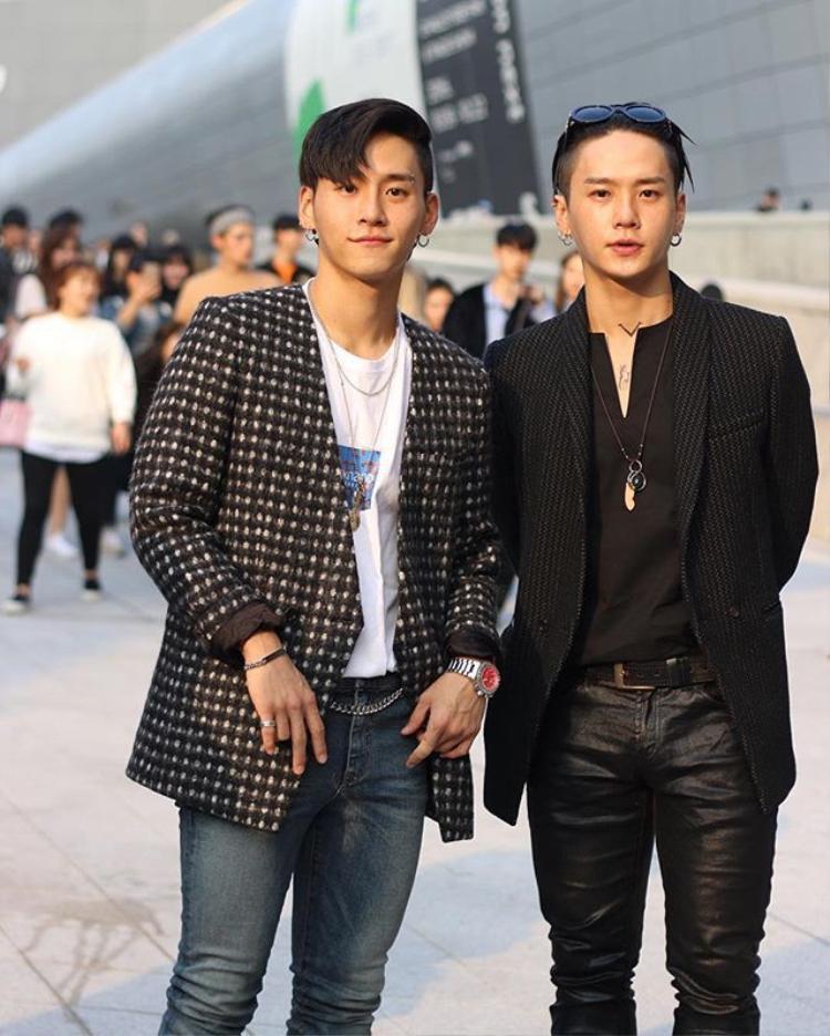 Hình ảnh Young Deuk và Young Don tại Seoul Fashion Week.