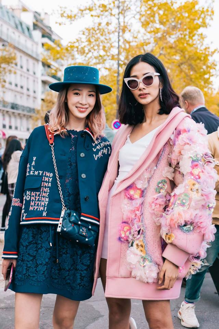 Hoàng Thủy đọ dáng bên cạnh fashionista hàng đầu xứ sở kim chi Irene Kim