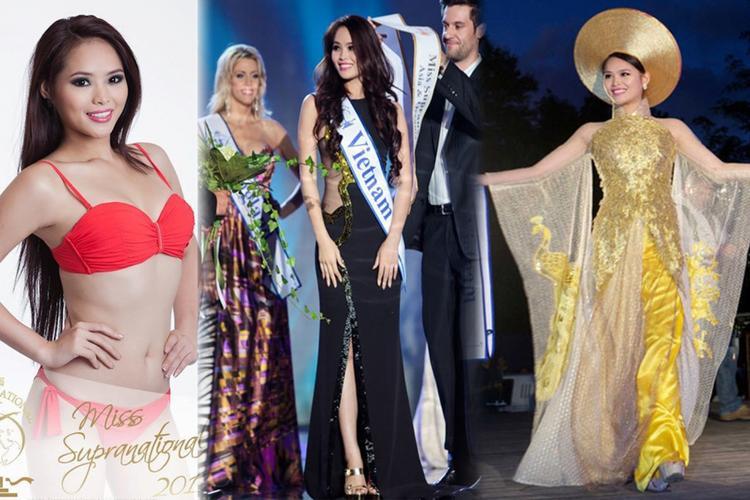 Lại Hương Thảo đến với Hoa hậu Siêu quốc gia 2012 chỉ sau 1 tháng kể từ ngày cô đăng quang Hoa khôi Thể Thao