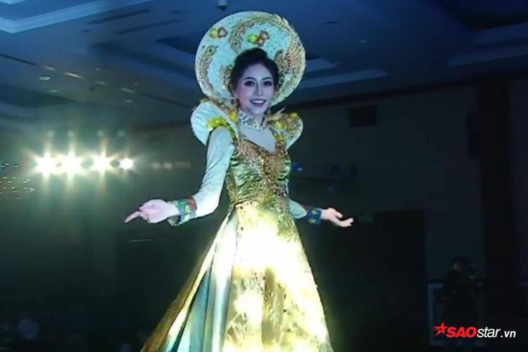 Vì lý do này mà Phương Nga xinh đẹp, cực bắt sáng khi diện quốc phục trên sân khấu Miss Grand International 2018 - Ảnh 2.