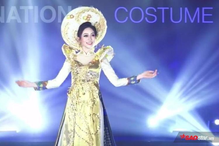 Vì lý do này mà Phương Nga xinh đẹp, cực bắt sáng khi diện quốc phục trên sân khấu Miss Grand International 2018 - Ảnh 4.