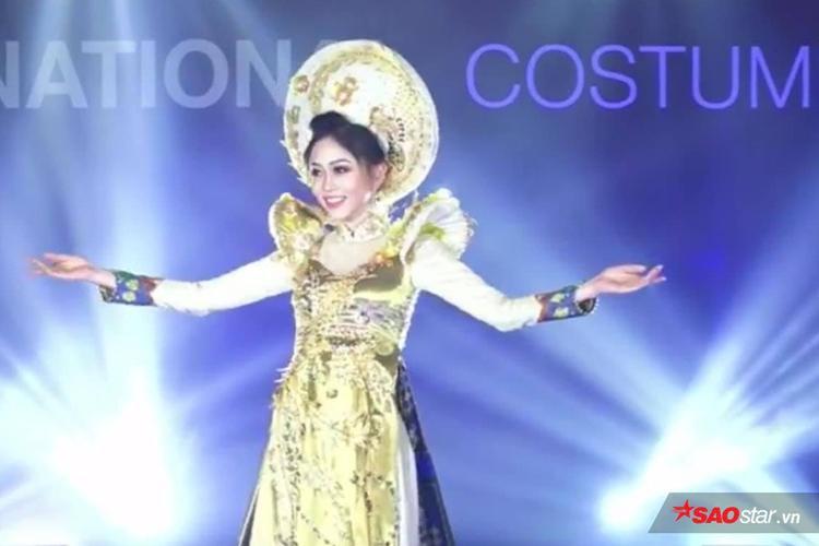Vì lý do này mà Phương Nga xinh đẹp, cực bắt sáng khi diện quốc phục trên sân khấu Miss Grand International 2018 - Ảnh 3.