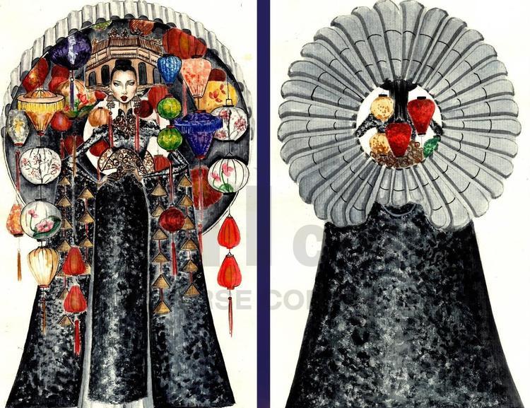 Bản phác thảo Phổ Cố đang nhận được rất nhiều sự quan tâm của khán giả về sự chỉn chu và kì công, hi vọng đây là một thiết kế độc đáo và ấn tượng so với sự an toàn của áo dài.
