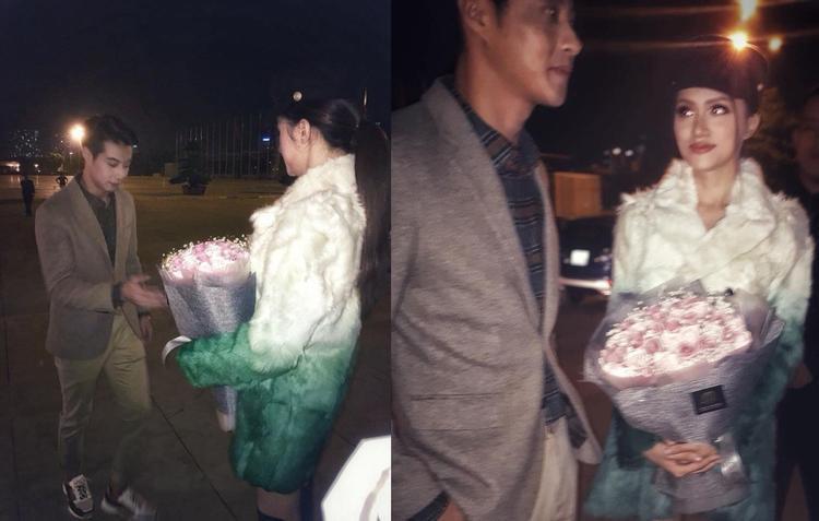 Hình ảnh chụp vội với bó hoa trên tay Hương Giang khiến các fan cho rằng cô nàng đã được Jack cầu hôn.